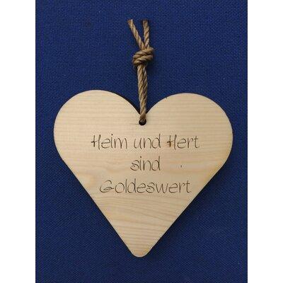 Factory4Home Schild-Set HH-Heim und Herd, Typographische Kunst