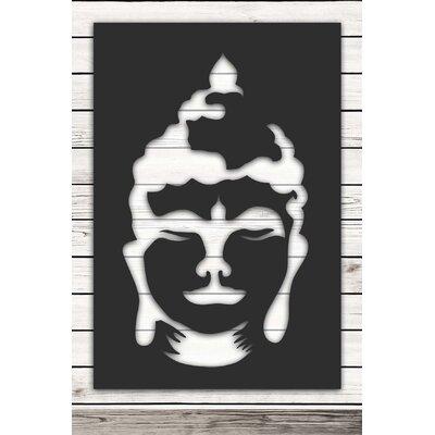 Factory4Home Schild-Set SH-Buddha head, Grafische Kunst  in Schwarz