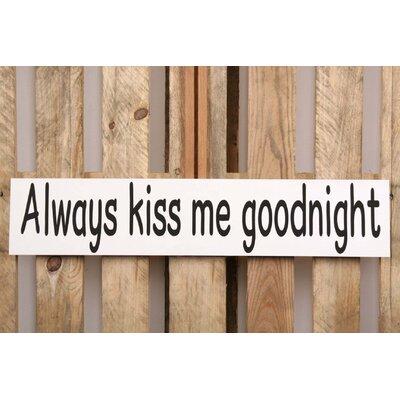 Factory4Home Schild-Set BD-Always kiss me, Typographische Kunst in Weiß