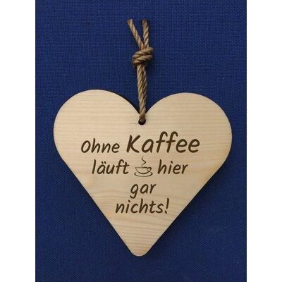 Factory4Home Schild-Set HH-Ohne Kaffee, Typographische Kunst
