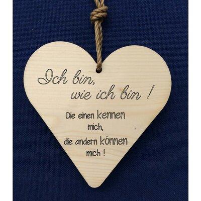 Factory4Home Schild-Set HH-Ich bin, wie ich bin!, Typographische Kunst