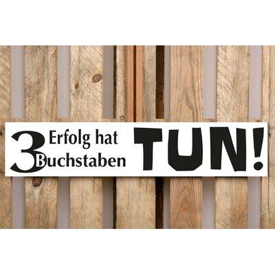 Factory4Home Schild-Set BD-Erfolg hat 3 Buchstaben, Typographische Kunst in Weiß