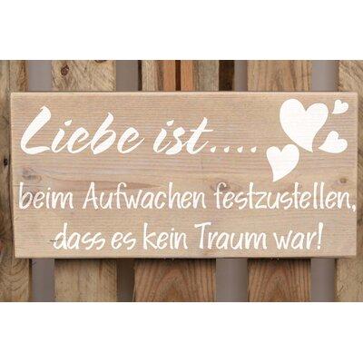 Factory4Home Schild-Set BD-Liebe ist…, Typographische Kunst