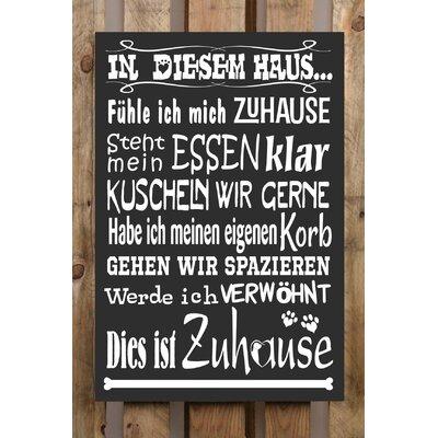 Factory4Home Schild-Set BD-Hund, Typographische Kunst in Schwarz