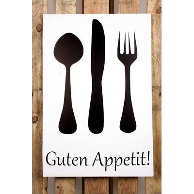 Factory4Home Schild-Set BD-Guten Appetit, Grafische Kunst in Weiß