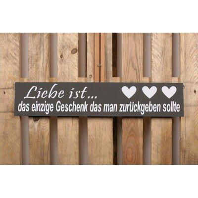 Factory4Home Schild-Set BD-Liebe ist…, Typographische Kunst in Schwarz