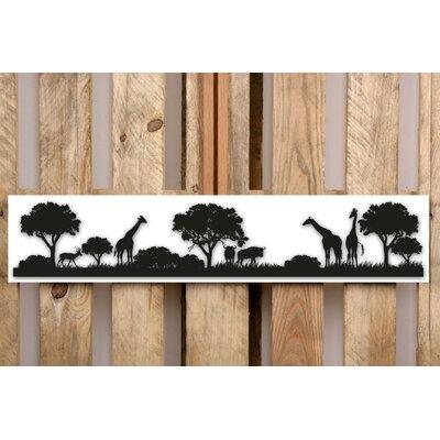 Factory4Home Schild-Set SH-Safari Giraf, Bilddruck