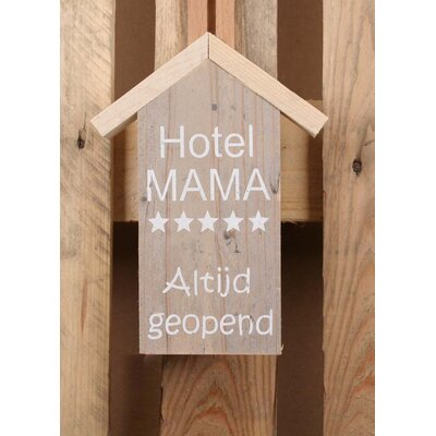 Factory4Home Schild-Set HS-Hotel Mama, Typographische Kunst