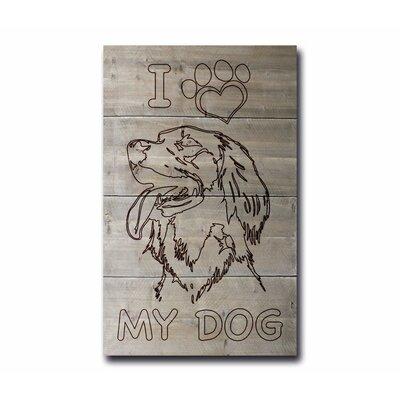 Factory4Home Schild BD-I love my dog, Grafische Kunst