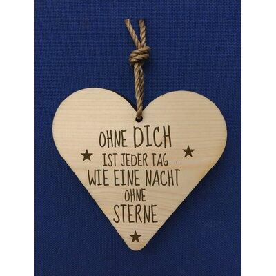Factory4Home Schild-Set HH-Ohne Dich, Typographische Kunst