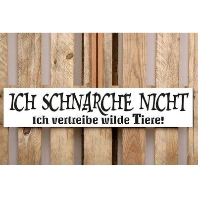 Factory4Home Schild-Set BD-Ich schnarche nicht, Typographische Kunst in Weiß
