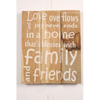 Factory4Home Schild BD-Love overflows, Typographische Kunst