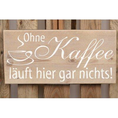 Factory4Home Schild-Set BD-Ohne Kaffee, Typographische Kunst