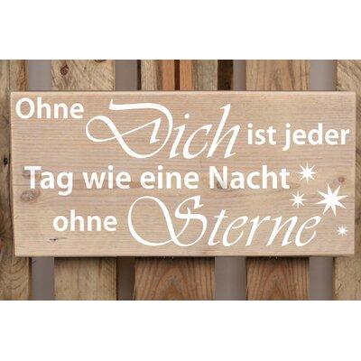 Factory4Home Schild-Set BD-Ohne Dich, Typographische Kunst
