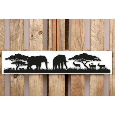 Factory4Home Schild-Set SH-Safari Elephant big, Bilddruck