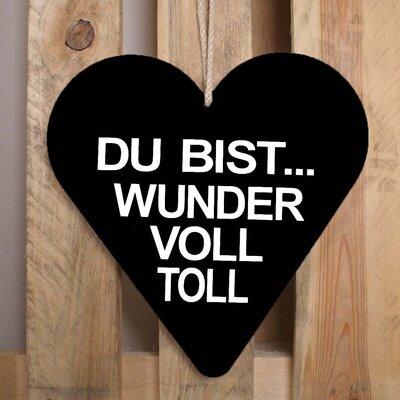 Factory4Home Schild-Set HE-Du bist wundervoll, Typographische Kunst in Schwarz
