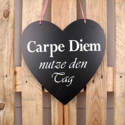 Factory4Home Schild-Set HE-Carpe Diem, Typographische Kunst