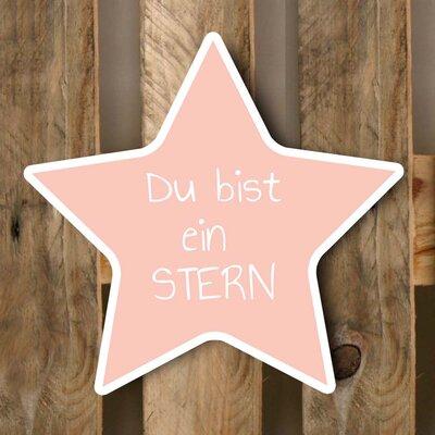 Factory4Home Schild BL-Stern, Typographische Kunst in Pink
