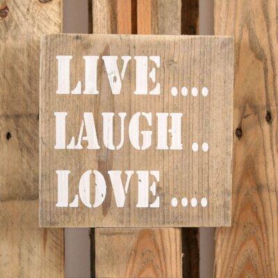 Factory4Home Schild-Set BD-Live Love Laugh, Typographische Kunst