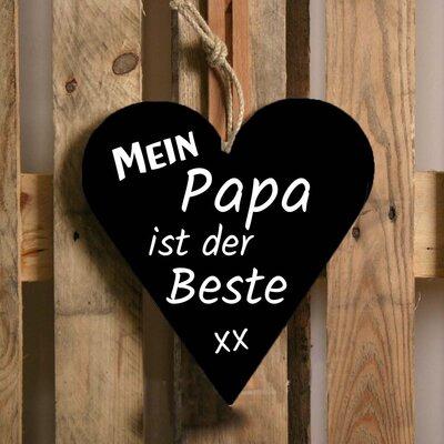 Factory4Home Schild-Set HE-Mein papa, Typographische Kunst in Schwarz