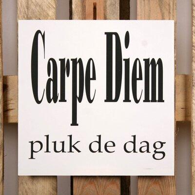 Factory4Home Schild-Set BD-Carpe Diem, Typographische Kunst