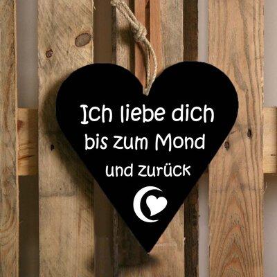 Factory4Home Schild-Set HE-Ich liebe dich, Typographische Kunst in Schwarz