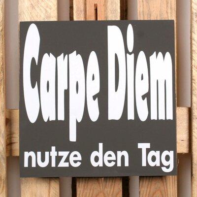 Factory4Home Schild-Set BD-Carpe Diem, Typographische Kunst in Schwarz