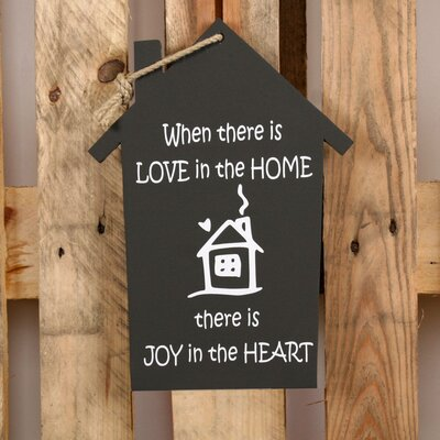 Factory4Home Schild-Set HS-When there is love, Typographische Kunst in Schwarz