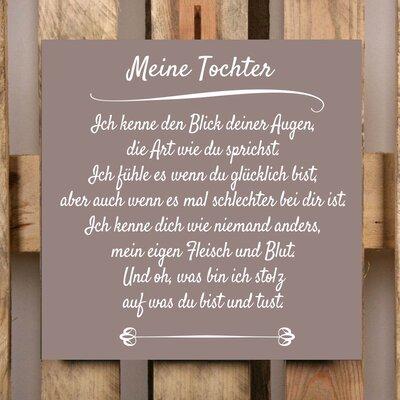 Factory4Home Schild-Set BD-Meine Tochter, Typographische Kunst in Taupe