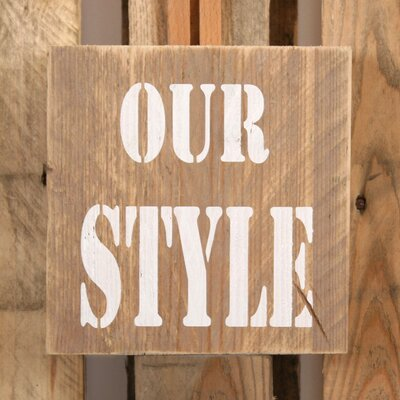 Factory4Home Schild-Set BD-Our style, Typographische Kunst