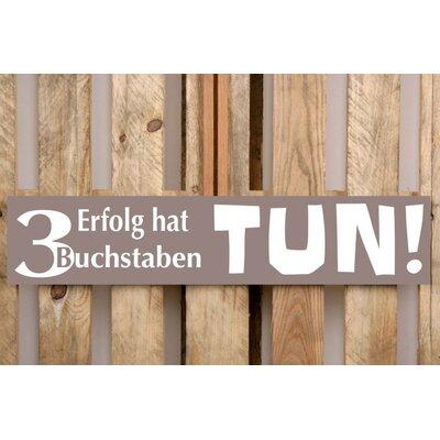 Factory4Home Schild-Set BD-Erfolg hat 3 Buchstaben, Typographische Kunst in Taupe