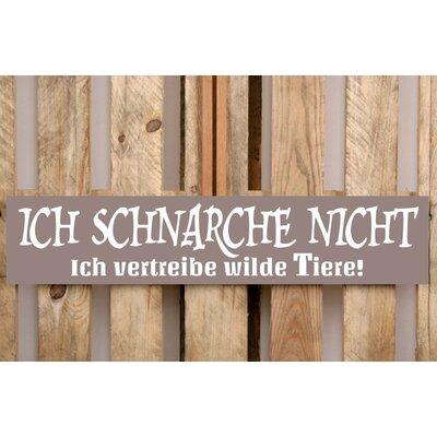 Factory4Home Schild-Set BD-Ich schnarche nicht, Typographische Kunst in Taupe