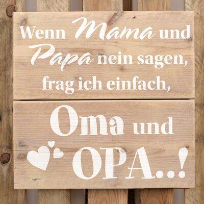 Factory4Home Schild BD-Wenn Mama und Papa, Typographische Kunst
