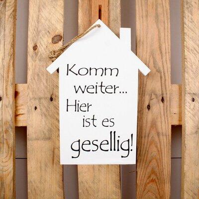 Factory4Home Schild-Set HS-Komm weiter, Typographische Kunst in Weiß