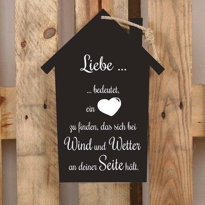 Factory4Home Schild-Set HS-Liebe… bedeutet…, Typographische Kunst in Schwarz
