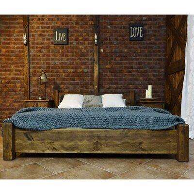 Seart Massivholzbett Rustikal, 140 x 200 cm