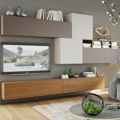 Denwar 8-tlg. Wohnzimmermöbel Set Espace Composition
