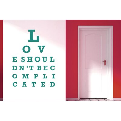 Cut It Out Wall Stickers Love Shouldn't Be Complicated Wall Sticker