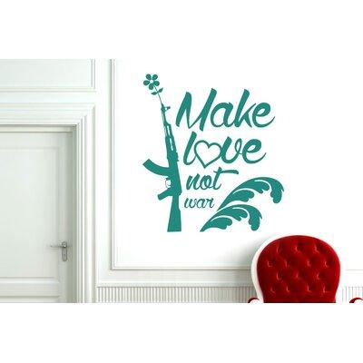 Cut It Out Wall Stickers Make Love Not War Wall Sticker