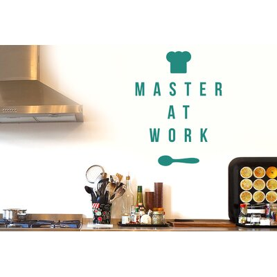 Cut It Out Wall Stickers Master at Work Wall Sticker
