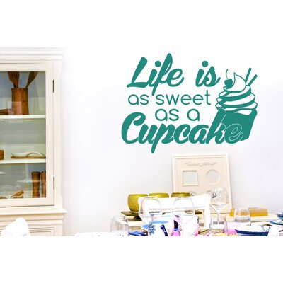 Cut It Out Wall Stickers Life Is As Sweet As a Cupcake Wall Sticker