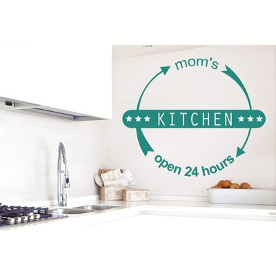 Cut It Out Wall Stickers Mums Kitchen Open 24 Hours Wall Sticker