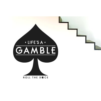 Cut It Out Wall Stickers Lifes a Gamble Roll the Dice Wall Sticker