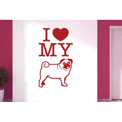 Cut It Out Wall Stickers I Love My Dog Wall Sticker