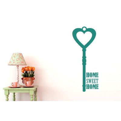 Cut It Out Wall Stickers Home Sweet Home House Key Wall Sticker