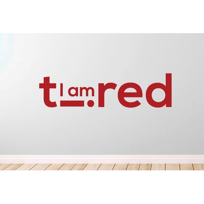 Cut It Out Wall Stickers I Am Tired Wall Sticker