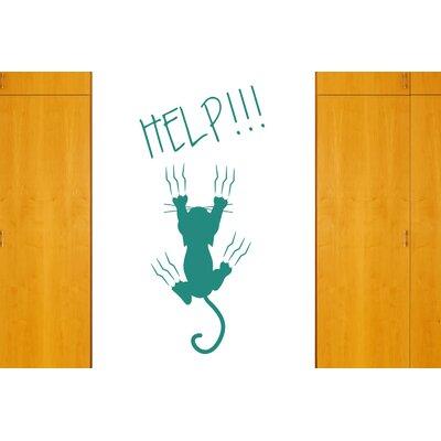 Cut It Out Wall Stickers Help Cat Falling Wall Sticker