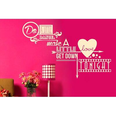 Cut It Out Wall Stickers Do a Little Dance Make a Little Love Wall Sticker