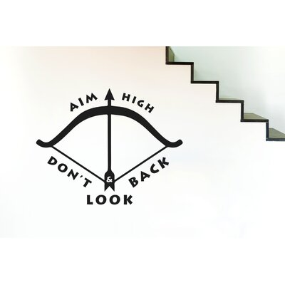 Cut It Out Wall Stickers Aim High and Don't Look Back Wall Sticker