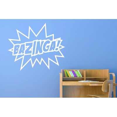 Cut It Out Wall Stickers Bazinga Sheldon Quote from the Big Bang Theory Wall Sticker
